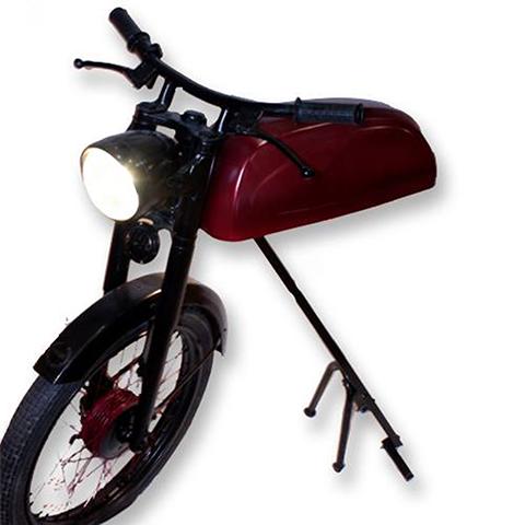 lampara de pie moto derbi antigua