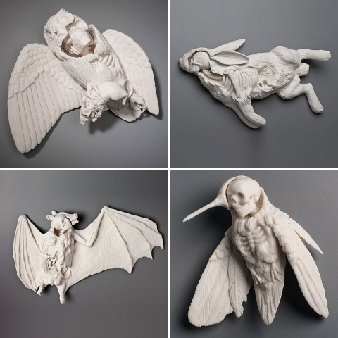 ssstendhal arte animales ceramicos kate macdowell