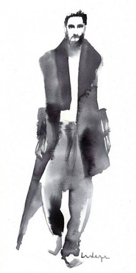 ssstendhal moda moda ilustrada Baiba Ladiga